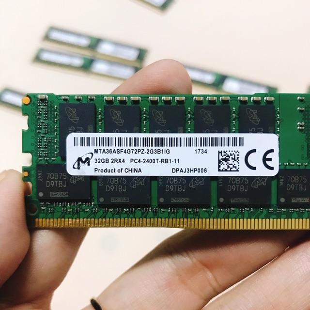 Bộ nhớ máy tính Ram Server DDR4 32gb bus 2400