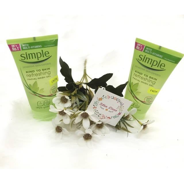SỮA RỬA MẶT SIMPLE KIND TO SKIN REFRESHING WASH GEL