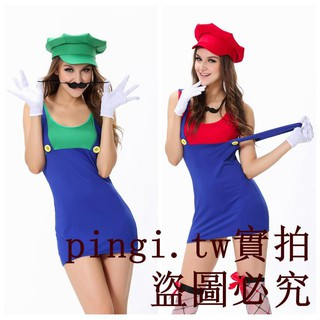 Super-selling game suit Halloween party with hat Mario cosplay wear DS suit