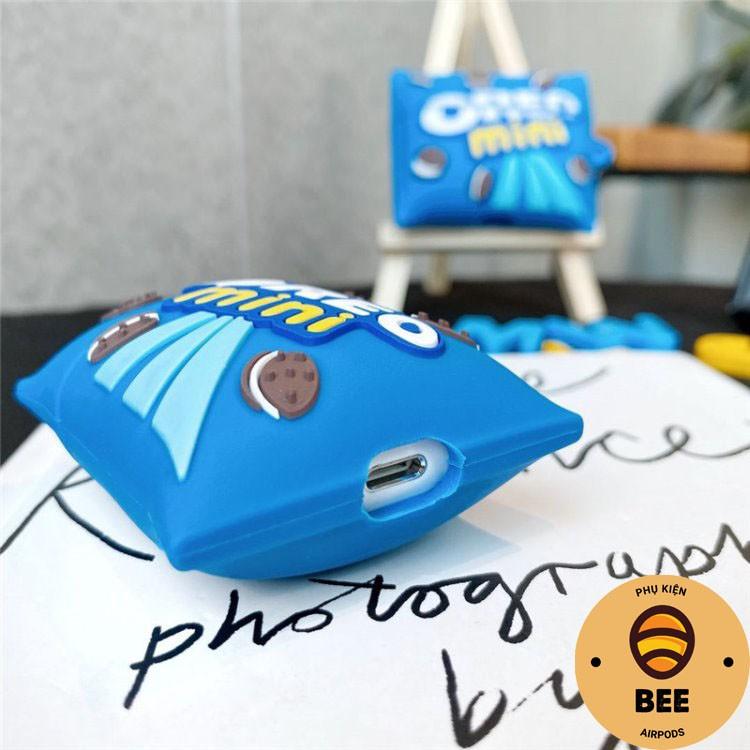 Case Airpod 1 2 Pro Vỏ Airpods Vỏ Bánh Oreo Mini Chất Liệu Silicon Cao Cấp - BEE SHOP