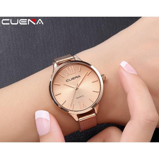 Đồng hồ nữ Cuena màu vàng hồng cực chất