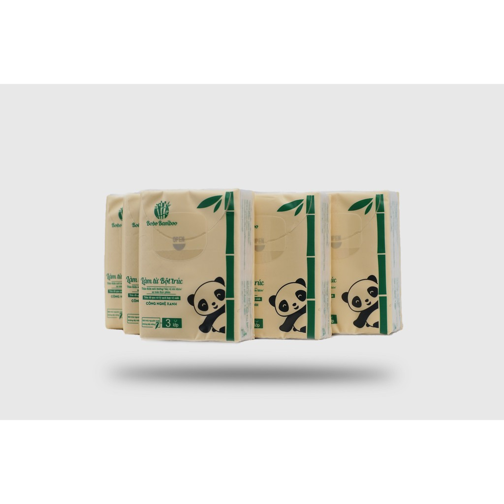 [Mã FMCGM25 - 10% ĐH 150K] Combo 6 gói giấy rút + 10 gói giấy bỏ túi làm từ bột trúc siêu dai Bobo Bamboo