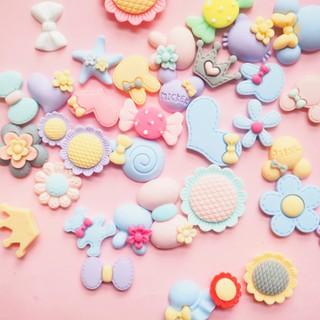 Hạt nhựa (Charm)_Chủ đề màu pastel ngẫu nhiên (túi 20 mẫu)_Trang Trí Handmade