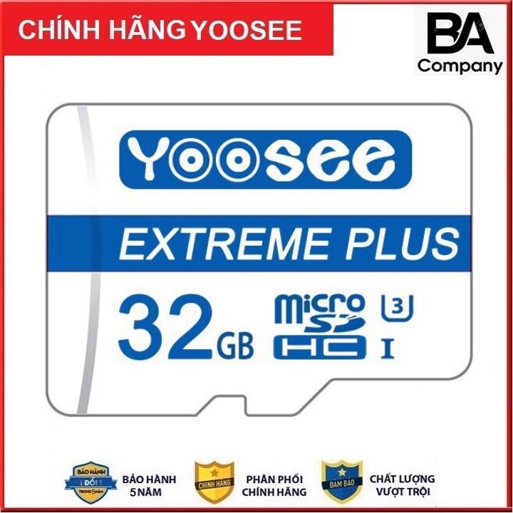 Thẻ Nhớ 32GB Yoosee Chính Hãng Tốc Độ Cao - Chuẩn Class 10 Chuyên dụng cho Camera , Máy Ảnh BH 5 Năm