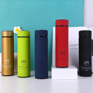 [Bảo hành 1-1] Bình giữ nhiệt inox có nắp, lõi lọc, giữ nhiệt cực tốt - Bình giữ nhiệt Life