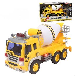 Mô hình đồ chơi xe trộn bê tông cỡ lớn có đèn và nhạc BBTGlobal WY302S