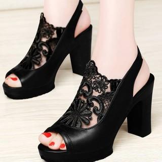 Giày Sandal Cao Gót Phong Cách Hàn Quốc Quyến Rũ Cho Nữ