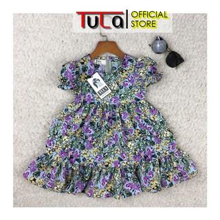Váy Bé Gái Họa Tiết Hoa Cực Đẹp Vải Lụa Hoa Hàn Quốc