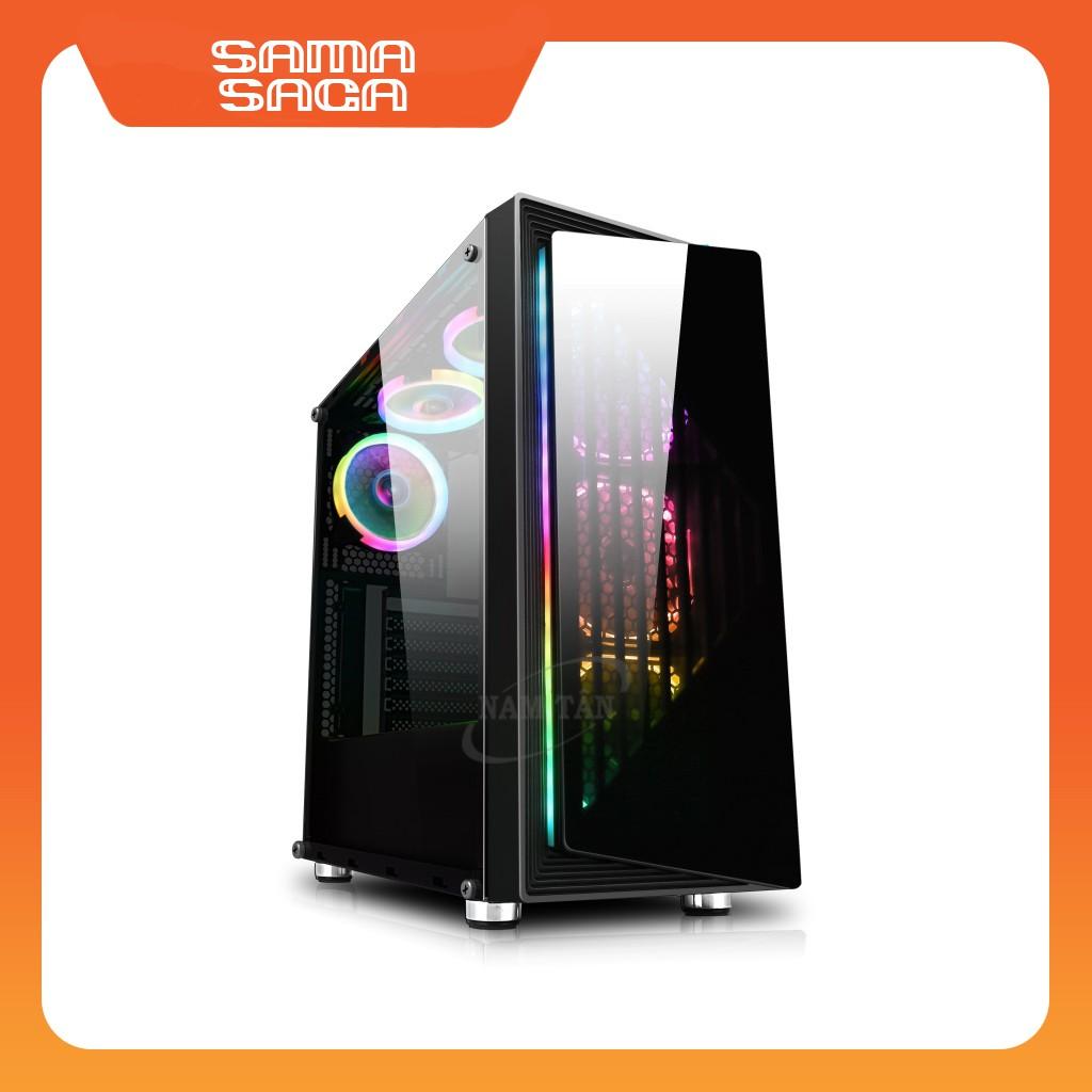 Vỏ máy tính SAMA SAGA ( 3x12cm Red led 33 bóng (lắp sẵn) ) Giá chỉ 1.070.000₫