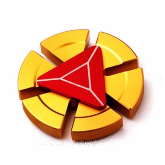 Con quay Người Sắt- FIDGET SPINNER IRON MAN màu Vàng- Đỏ ( Có Hộp Đựng ) OSố 6038