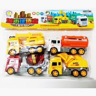 Bộ đồ chơi 4 xe mô hình, xe công trường, xe đồ chơi
