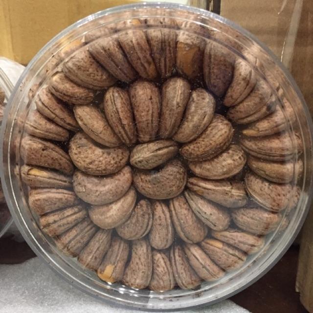 Hộp 500gr hạt điều rang muối vỏ lụa loại 1 Bình Phước