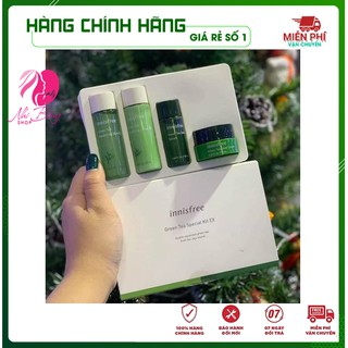 [Hàng Auth Hàn Quốc] Bộ dưỡng da - Bộ dưỡng ẩm chiết xuất từ lá Trà Xanh Innisfree Hàn Quốc Mẫu Mới thumbnail