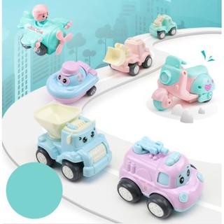 Full bộ Xe Mô Hình Mini kids Toys- Những người bạn vui vẻ – chạy bánh đà mượt mà, bền bỉ dành cho trẻ từ 1-5 tuổi