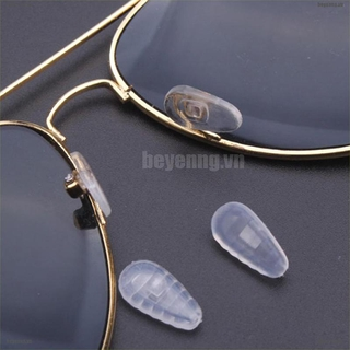 BEY 10*Silicone Air Chamber Nose Pads For Glasses Eyeglasses Sunglasses Screw Push