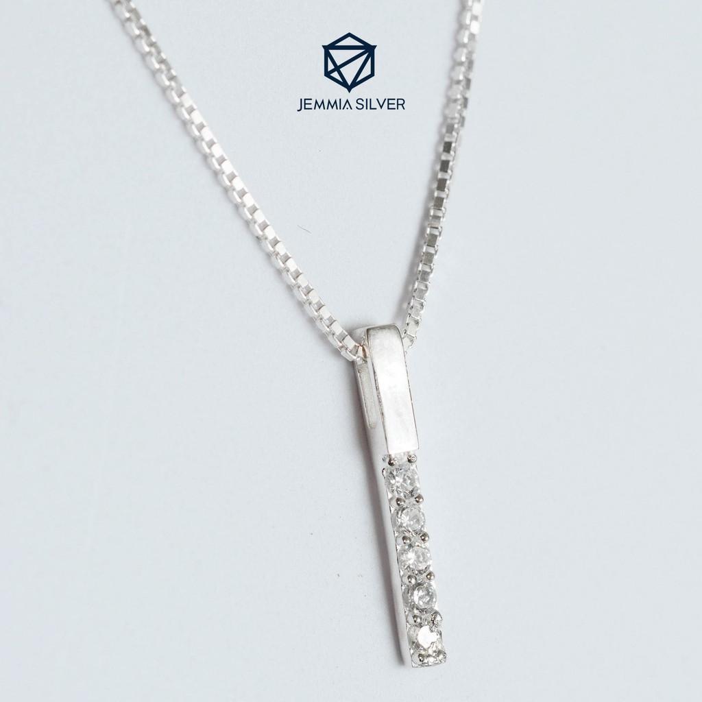 Dây chuyền bạc nữ Jemmia Sparkle Stick đơn giản - JM001