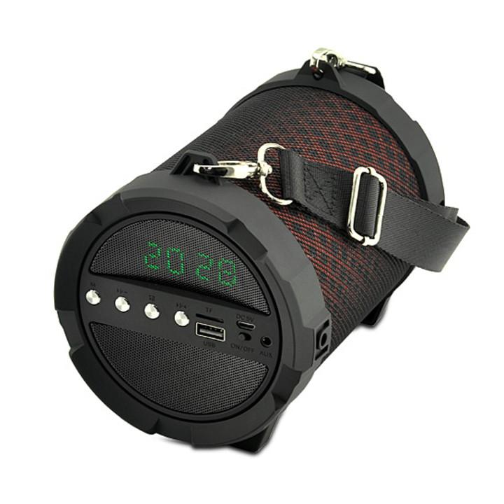 Loa bluetooth JY-41 có màn hình LCD hiển thị, có chức năng đồng hồ (Màu đò)
