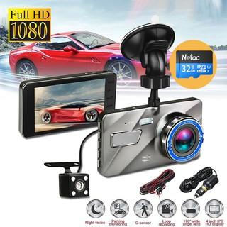 Camera hành trình ô tô trước sau 2510 ống kính kép siêu bền Full HD1080P+ Kèm thẻ nhớ 32GB