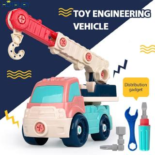 【In stock】 4 Styles DIY Mini Engineering Car Model Toy Cars Self-Dismantling Toy Cars Children Excavator Toy Cars Toys For Children 【ht】