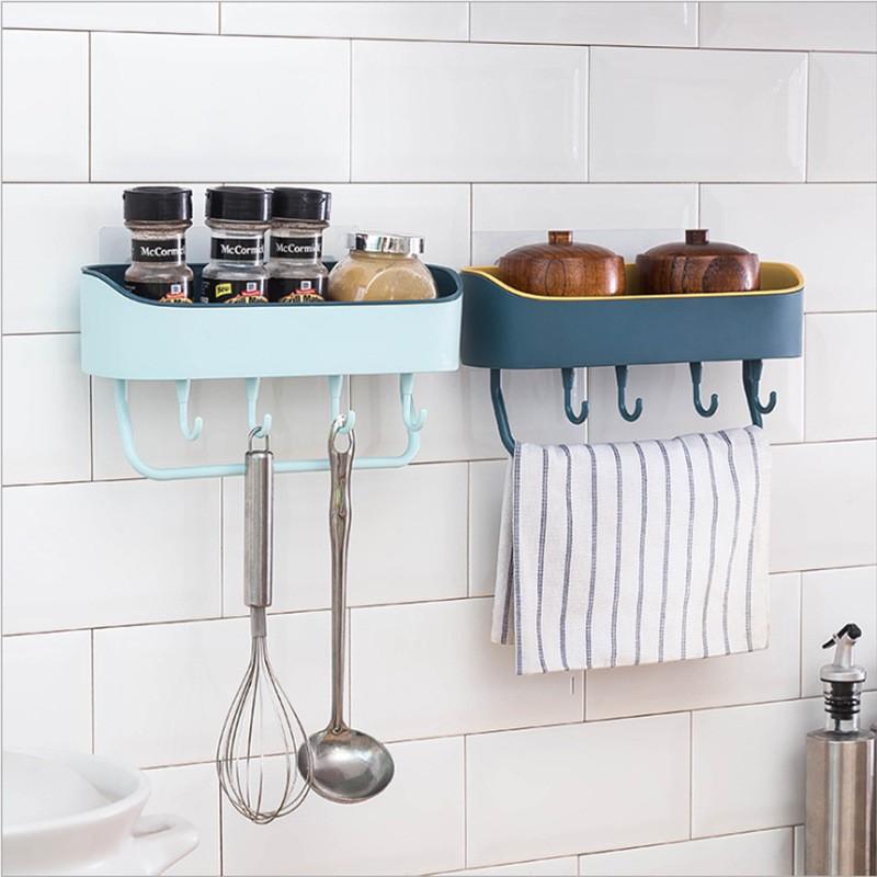 Kệ để đồ phòng tắm, nhà bếp có móc treo khăn cao cấp