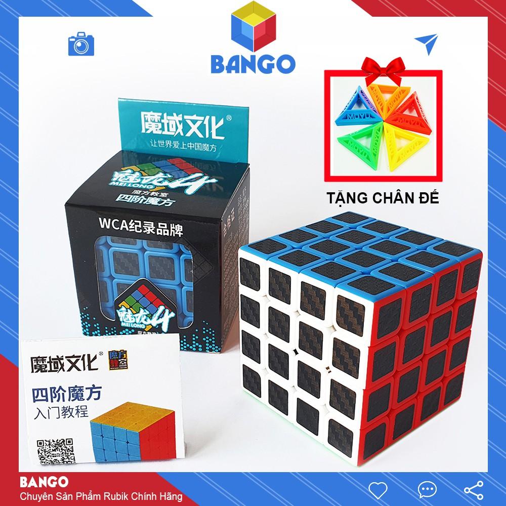 Rubik 4×4 Carbon Moyu Meilong Giá Rẻ Magic Cube Đồ Chơi Thông Minh Rubic BANGO RC04