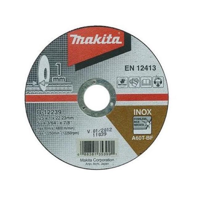 B-12239 Đá cắt mỏng 1mm 125mm Makita