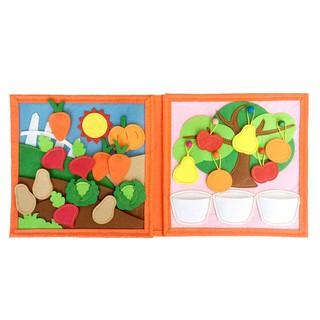 Sách vải thực vật - Dành cho bé mầm non từ 1 6 tuổi Sách Vải Xuất Khẩu Châu Âu