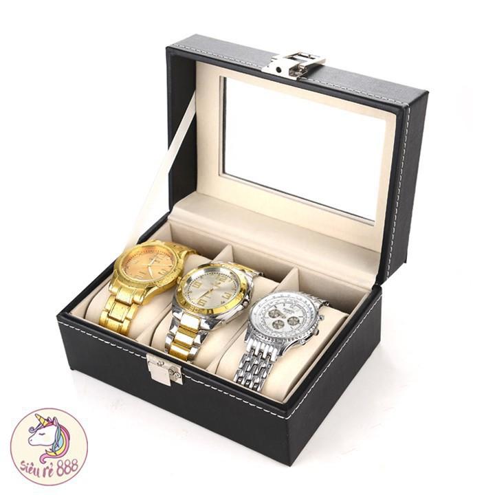 [HÀNG XỊN] Hộp đựng đồng hồ 3 ngăn - HĐ4