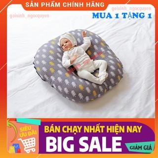 gối chống trào ngược cho bé Tặng gối chống móp đầu cho bé( Size 70cmx70cm)