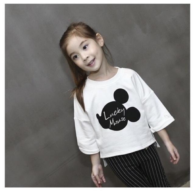 Áo phông bé gái in hình chuôt MicKey - 2619165 , 122042646 , 322_122042646 , 90000 , Ao-phong-be-gai-in-hinh-chuot-MicKey-322_122042646 , shopee.vn , Áo phông bé gái in hình chuôt MicKey