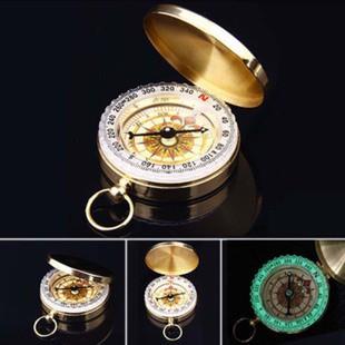[Tp.HCM] La bàn Compass bỏ túi dã ngoại chất liệu đồng thau