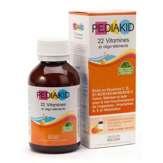 Pediakid 22 Vitamines 125ml Siro bổ sung vitamin và khoáng chất cho bé