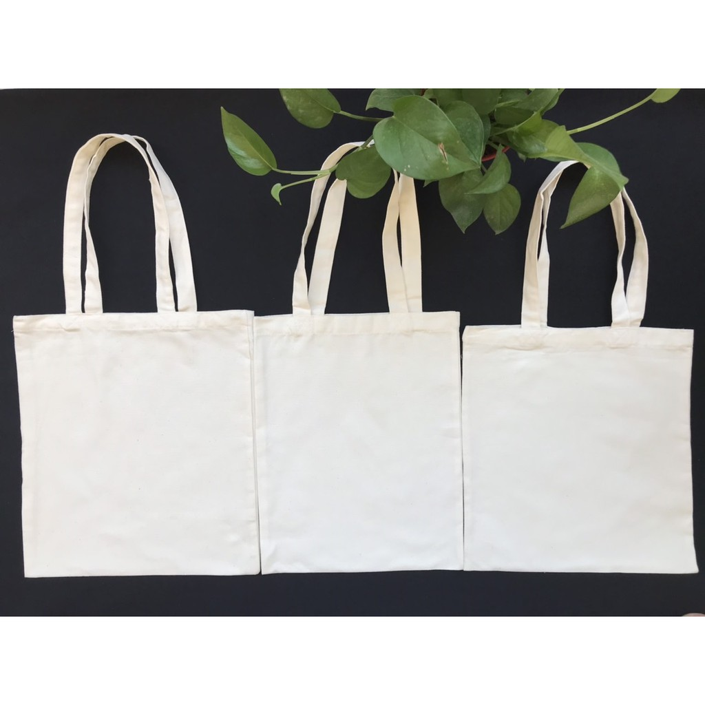 Túi vải bố, vải canvas trơn màu trắng
