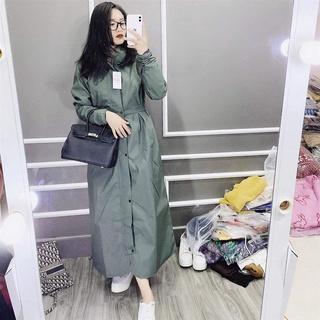 ❆┇✶Áo mưa măng tô nữ một đầu PU 2 lớp thời trang cao cấp chống thấm chống gió lạnh – Ao mua mang to nu