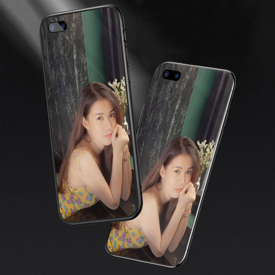 Ốp kính cường lực cho điện thoại Oppo A5/A3s - Realme C1 - theo yêu cầu MS IN009