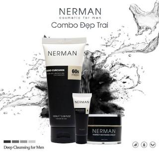 Combo đẹp trai Nerman – 3 in 1 ngừa mụn dưỡng trắng
