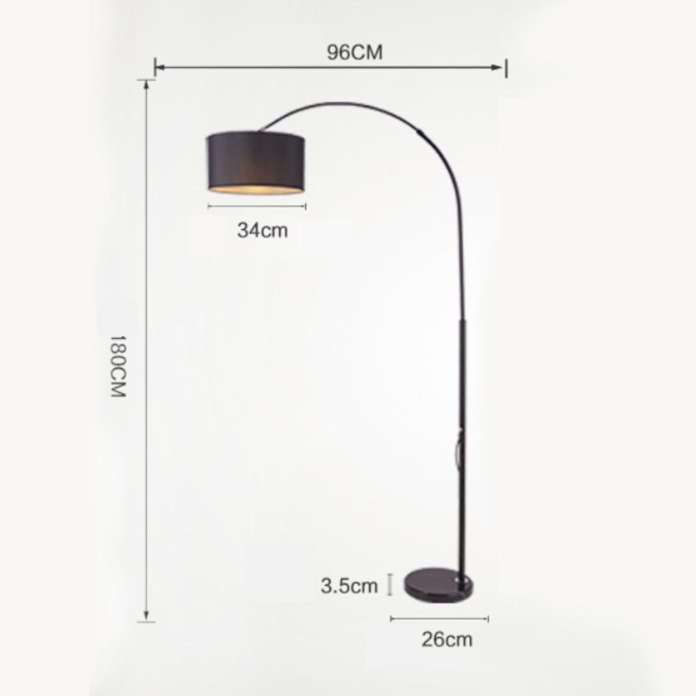 Đèn Cây Phòng Khách PHAM-NO1 , Đen Và Trắng Bắc Âu