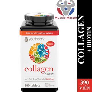 Viên Bổ Sung Collagen + Biotin Đẹp Da, Tóc, Móng Youtheory Collagen + Biotin 390 Viên thumbnail