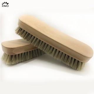 Bàn chải vệ sinh giày lông ngựa gỗ sồi cao cấp cỗ lớn chuyên dụng XIMO (XBCDG20-A7)