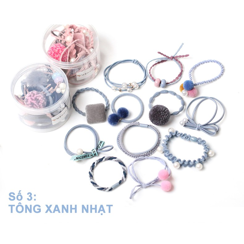 Set 12 cột tóc Hàn Quốc (xanh nhạt) - CT033 - 3048776 , 1054646517 , 322_1054646517 , 164400 , Set-12-cot-toc-Han-Quoc-xanh-nhat-CT033-322_1054646517 , shopee.vn , Set 12 cột tóc Hàn Quốc (xanh nhạt) - CT033