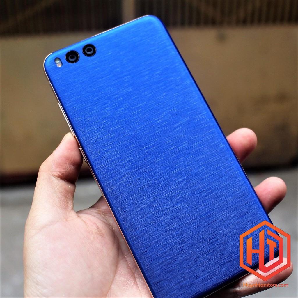 Xiaomi Mi Note 3_ Skin nhôm xướt nhiều màu cực đẹp (Không bao gồm cạnh và Logo)