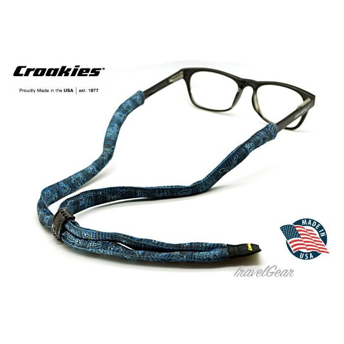สายคล้องแว่นตา Croakies รุ่น Print Suiters XL Hawaiian Petroglyph Blue