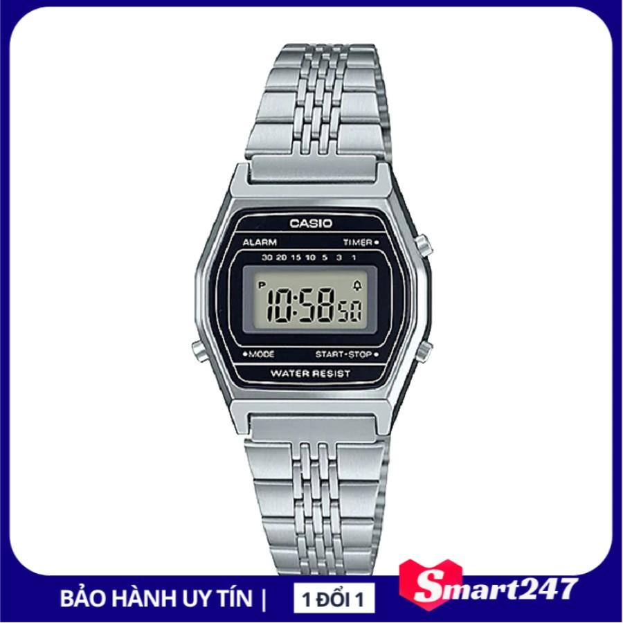 Đồng hồ nữ điện tử Casio chính hãng Anh Khuê LA690WA-1DF dây thép