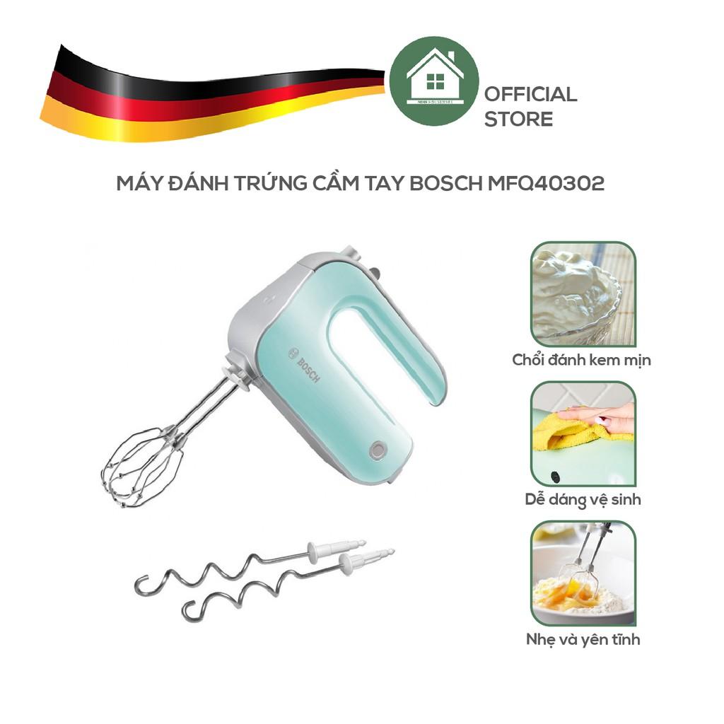 Máy Đánh Trứng Trộn Bột Cầm Tay Bosch MFQ 40302, Chạy Êm, Đánh Cực Mịn &  Nhuyễn - Nhập Khẩu Đức