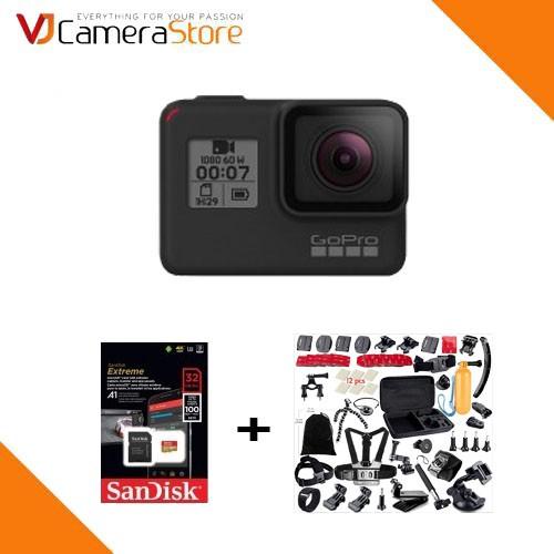 GoPro Hero 7 Black - Chính hãng, tặng kèm thẻ 32gb, bộ phụ kiện 21 món cho gopro