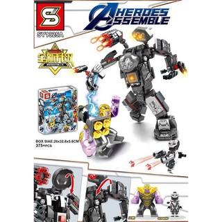 (Có Sẵn)Lego Biệt Đội Siêu Anh Hùng 375+pcs – IRON MAN HULKBUSTER 1325A