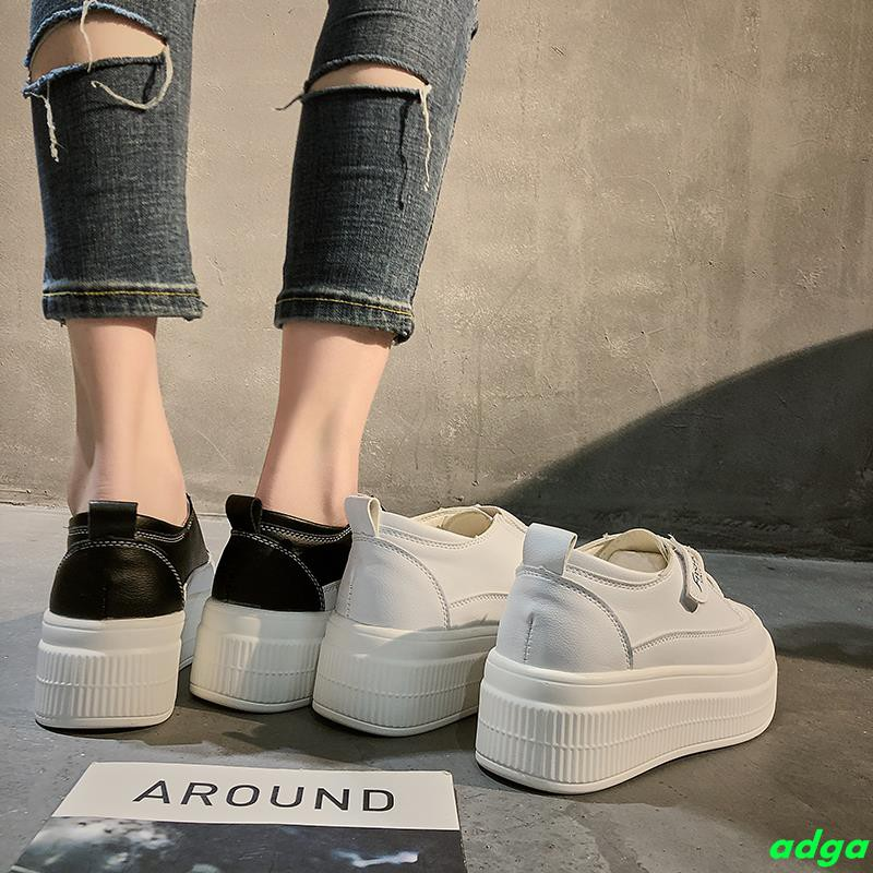 Small white shoes female 2019 spring new Korean version of the thick-soled casual shoes versatile net red Velcro inside