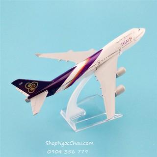 Mô hình máy bay tĩnh B747 Thai Airways 16cm