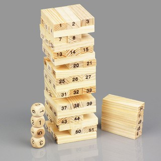 Bộ đồ chơi rút gỗ Wiss Toy lớn có 4 con xúc sắc