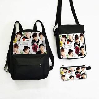 [Mã FAMALLT5 giảm 15% đơn 150K] Set balo túi ví TROY in hình nhóm BTS thumbnail